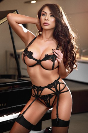 Dominatrix Brunette Escort Girl