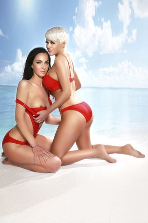 Blonde and Brunette London Duo Escorts R & D