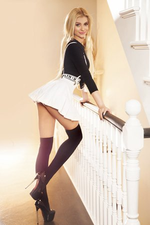 Striptease Blonde Escort Girl